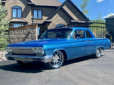 1962 Chevrolet BISCAYNE NO RESERVE NO RESERVE 1962 CHEVROLET BISCAYNE 2 DOOR CUSTOM LOWERED V8 LOW ACTUAL MILES WOW