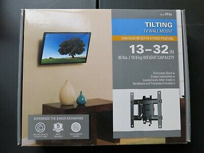 "Sanus Tilting Flatscreen TV Wall Mount 13-32"" 35lb Capacity New In Box"