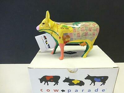 2000 Map Cow Westland COW PARADE FIGURINE #9162 with Box & Tags