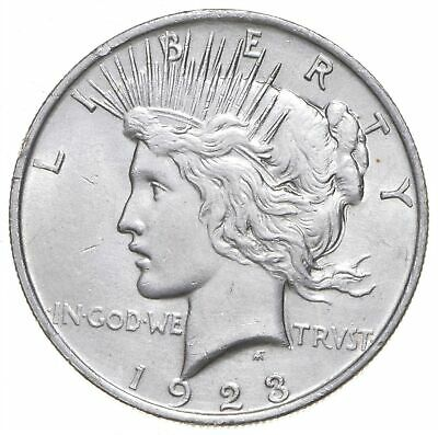 Early - 1923 - Peace Silver Dollar - 90% US Coin *389
