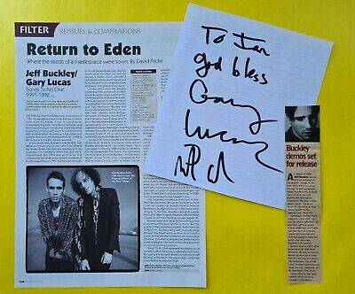 SIGNED Gary Lucas Martin Grech Jeff Buckley Songs to no one CD Grace songwriter
