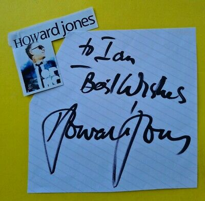 SIGNED Howard Jones (Humans Lib, No one is to blame, New Song, What is love etc)