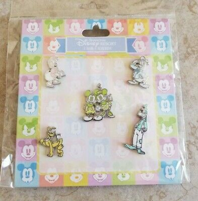 Disney Trading Pins Lot of 5 New SHDR Spring Mickey Minnie Donald Goofy Pluto