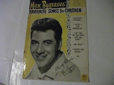 """""""Max Bygraves Favourite Songs for Children"""" piano/vocal sheet music"""