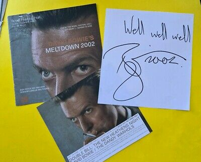 *Photocopy* SIGNED David Bowie Meltdown Festival autograph and programme cover