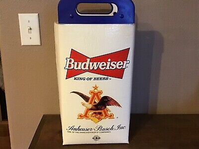 Rare Vintage Budweiser Beer Can Soft Cooler - 15 Inches x 10 inches