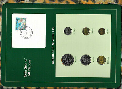 Coin Sets of All Nations Seychelles all 1982 UNC w/Card Coral stamp