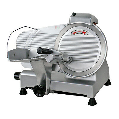 Electric 10'' Meat Slicer Stainless Steel Blade Bread Cutter Deli Food Machine