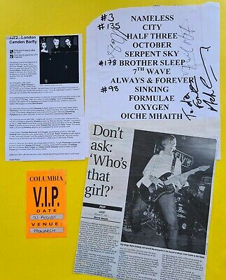 SIGNED JJ72 2002 set list review VIP pass Hillary Woods Mark Greaney I to sky