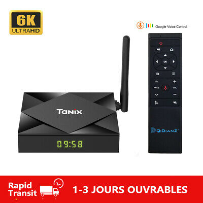TX6S Android 10 Smart TV BOX Allwinner H616 2.4G/5G Wifi 6K Multimédia Mini TX6
