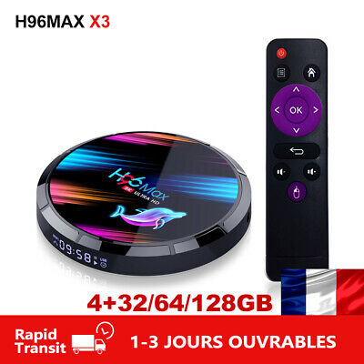 H96MAX X3 Android 9.0 TV Box Amlogic S905X3 8K 2.4G/5G Wifi BT 4.0 Media H96 MAX