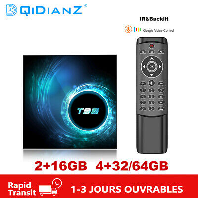 T95 Android 10.0 Smart TV Box H616 2.4G Wifi 6K Media Player Multimédia 2GB 4GB