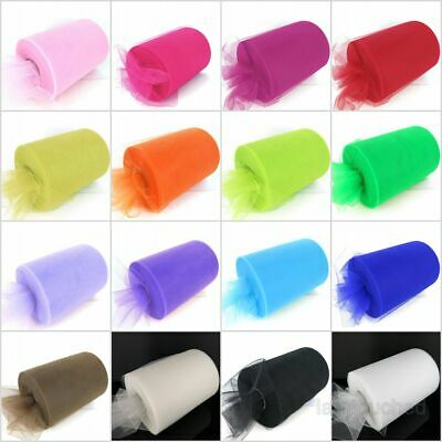 "100yrds 6"" Wide Tutu Tulle Roll Nylon Netting Craft Fabric Soft Tutu Skirt Women"