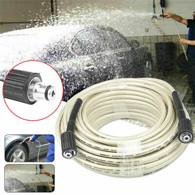 15M High Pressure Washer Extension Hose 4000PSI M22 Thread Jet Power 5/16''