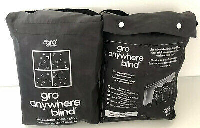 2 x Gro Anywhere Portable Adjustable Blackout Blind suction cups stars & moon