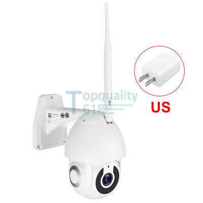 Waterproof WiFi 5X Zoom PTZ Pan Tilt HD 1080P Security IP IR Camera Night Vision