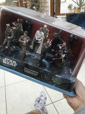 Star Wars Disney Store Rogue One Deluxe Figurine Set New In Box