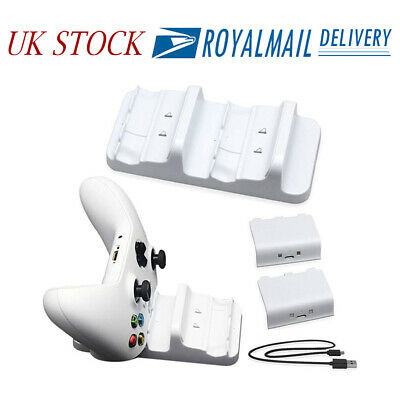 For Xbox One S Dual Charge Dock Controller Charger Charging + Battery Pack AC564