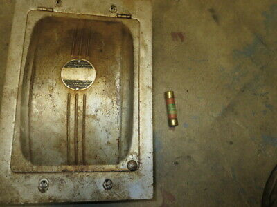 Vintage Metal Fuse Box Switch Steampunk Industrial  American Electric Switch Co.