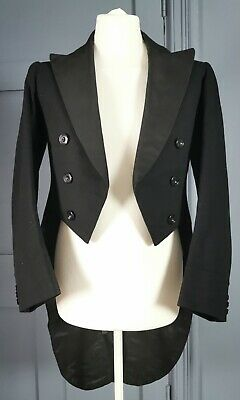 Vintage / Antique Late 19th / Early 20th Century Formal Tuxedo Tailcoat