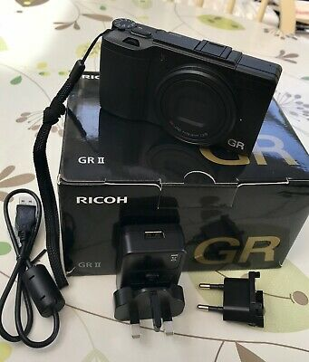 Ricoh GR II 16.2MP Digital Camera - Black in Mint Condition with 253 shutters.