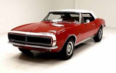 1967 Chevrolet Camaro RS Convertible RS Option Car 327ci V8 4 BBL Carb Red Interior Parchment Convertible