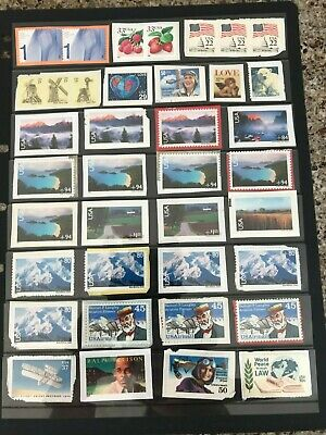 United States of America Unfranked Stamps on Paper - FV $23 - Lot 1