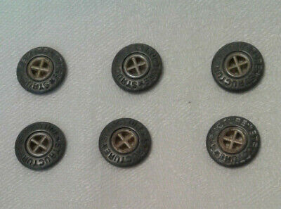 Set of 6 Vintage Structure Clothing Buttons
