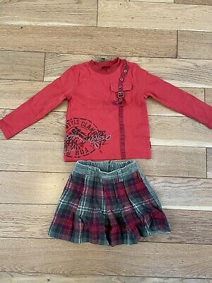 Girls Pampolina Outfit Age 5 Skirt Long Sleeve Top