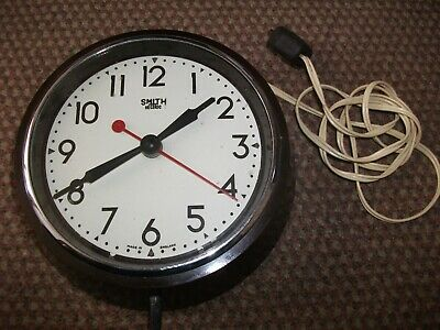 """Smiths Sectric Wall Clock From 1947 8"""" Case"""