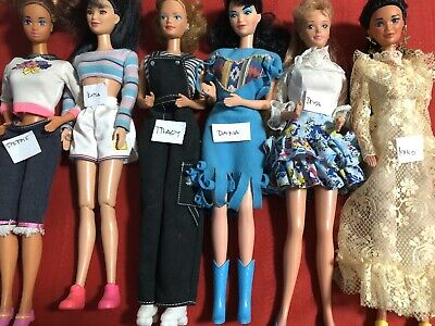 Barbies Friends STEFFIE KIRA TRACY DANA DIVA  MIKO Lot Of 6 - All Dressed Shoes
