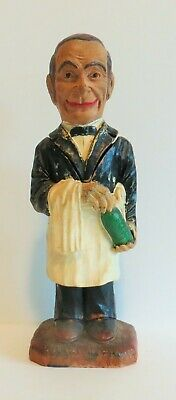 Vintage Syroco Wood Somelier Character and Corkscrew - Rare Figurine