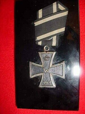 Vintage  Ww 1  German  Iron  Cross  Desk  Plaque  Medal