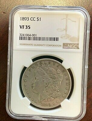 1893 CC $1 Morgan Silver Dollar NGC VF 35