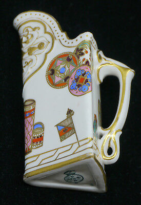 1884 Royal Worcester Hand Painted Triangle Pitcher, Aesthetic Movement, Japonism