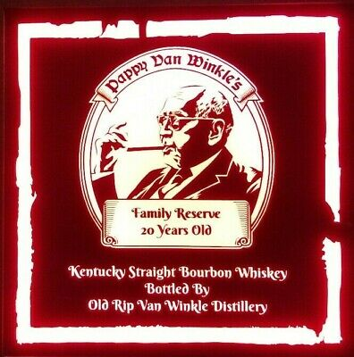 Pappy Van Winkle Whiskey LED Sign Personalized, Home bar pub Sign, Lighted Sign