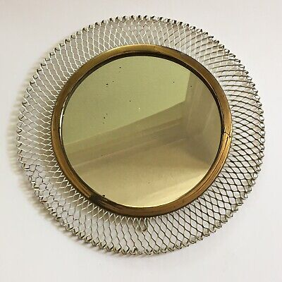 1950s retro vintage small French wall Mirror