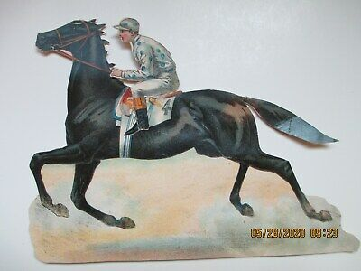 Lithograph Stand-Up Jockey & Horse