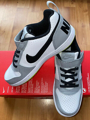 Nike Court Borough Low (PSV) Boys Girls Older Kids Trainers UK 1 EUR 33 NEW