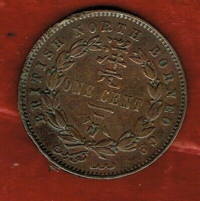 British North Borneo 1889 H  One Cent   ...Mintage 9,000,000..Kn2G