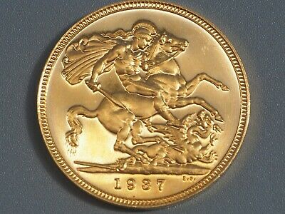 1937 King George VI Great Britain Gold Proof Sovereign
