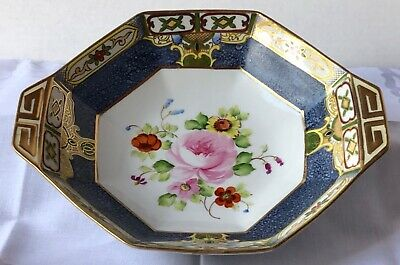 Lovely Nippon Hand-Painted Octagonal-Shaped Porcelain Decorative Bowl, 1911-1921