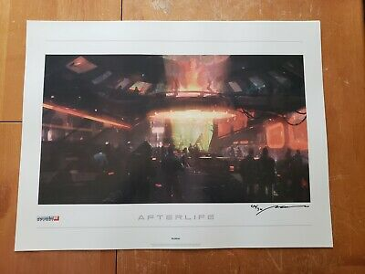 Mass Effect 2: Lithograph - Afterlife *Signed & Limited 292/300*