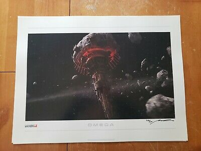 Mass Effect 2: Lithograph - Omega *Signed & Limited 290/500*