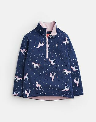 Joules Girls Fairdale Printed Sweatshirt  - NAVY UNICORN Size 4yr