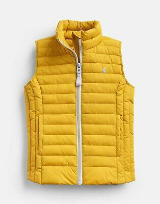 Joules Girls Croft Padded Gilet  - ANTIQUE GOLD Size 7yr-8yr