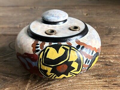 Antique French Art Deco Inkwell Signed L DAGE c1930