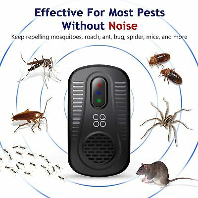 CQOO Ultrasonic Pest Repeller Electromagnetic Insect Repellent Plug in Pest Cont