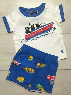 Joules Baby boys t-shirt and shorts set 6-9 months