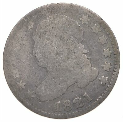 EARLY - 1821 - Capped Bust Dime - Eagle Reverse - TOUGH - US Type Coin *279